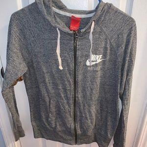 NIKE Gray Zip Up Sweater